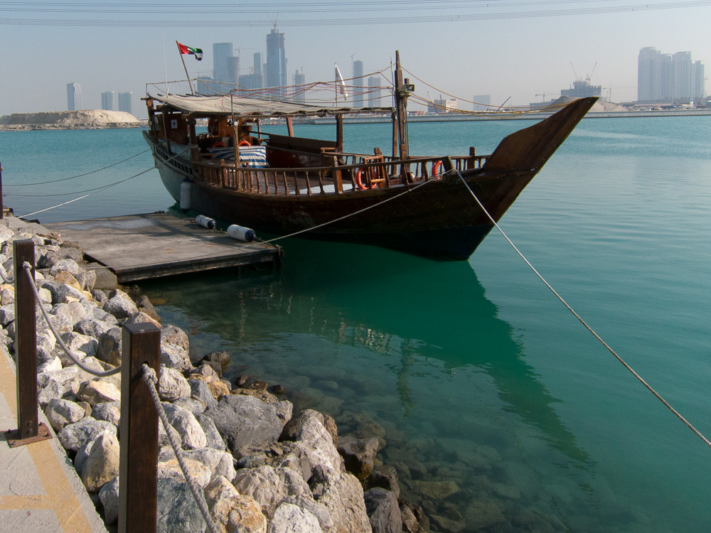 Traditional boat from Abu Dhabi