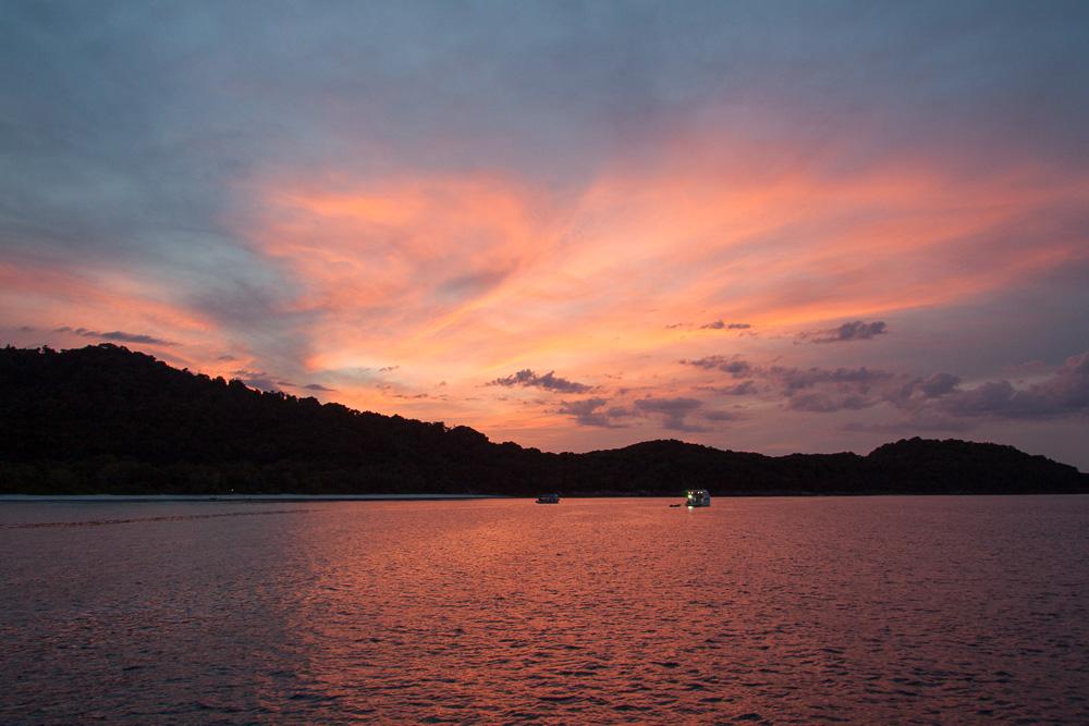 Sunset on Koh Tachai