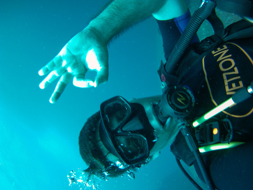 Underwater self-portrait