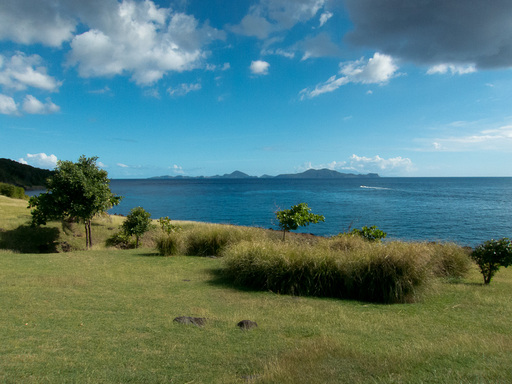 View of Les Saintes from Fort Delgres.